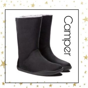 New! Camper Peu Cami Black Leather Boots 6 7